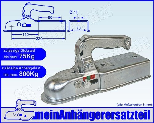 ALBE Berndes Zugkugelkupplung Kugelkupplung Anhängerkupplung Vierkant Rohr 70mm EM 80 V G 05270