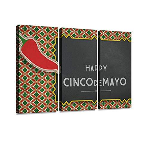 DIY Cinco de Mayo mexikanischen Pinata Kaktus gemacht Karton Druck auf Leinwand Wand Kunstwerk Moderne Fotografie Home Decor einzigartiges Muster gestreckt und gerahmt 3 Stück