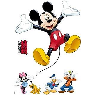 Komar - Disney - Deco-Sticker MICKEY AND FRIENDS - 50x70cm - Wandtattoo, Wandsticker, Wandaufkleber, Wandbild, Mickey Maus, Minnie Maus - 14017h, Bunt
