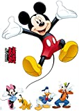 Komar - Disney - Deco-Sticker MICKEY AND FRIENDS - 50x70cm - Wandtattoo, Wandsticker, Wandaufkleber, Wandbild, Mickey Maus, Minnie Maus - 14017h