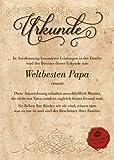 Die besten Papa Auszeichnungen - Urkunde für den Weltbesten Papa :: Geschenkkarte zum Bewertungen