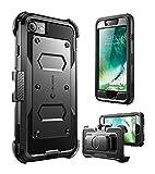 i-Blason Cover iPhone 8 iPhone 7, Custodia Rigida con Cavalletto Protezione per Display Integrata Rugged Case per iPhone 7 / iPhone 8, Nero