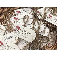 ETIQUETAS para tus regalos de boda. 150 unidades