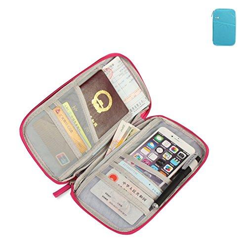 Zsjijia Borsa da viaggio con portafoglio con cinturino a mano