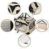 Songmics Hundebox faltbar Oxford Gewebe Maße auswählbar – S 50 x 35 x 35 cm PDC50W - 4