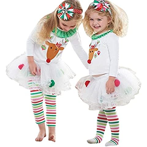 hibote Natale Christmas Baby Girl Clothes Davidsdeer Suit bambini Set