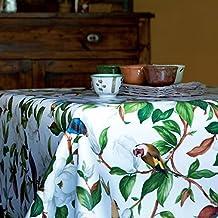 Hule mesa mantel de hule lavable de pájaros en flores tamaño a elegir), plástico, carbón, 200 x 140 cm