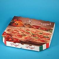 200 Pizzakartons Pizzaboxen Pizzaschachteln Treviso 30x30x3cm Treviso mit Neutralmotiv