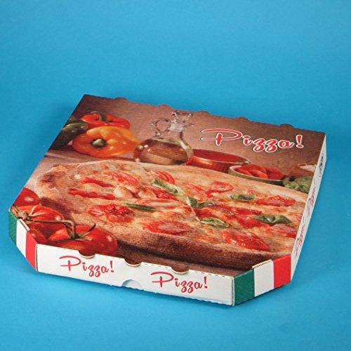 150 Pizzakartons Pizzaboxen Pizzaschachteln Treviso 32,5x32,5x3cm Treviso mit Neutralmotiv