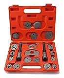 Rionn™ Bremskolbenrücksteller Set 22 tlg. Set Bremskolben Rücksteller 2 Spinde Bremskolben-Ruecksetz-Werkzeug-Satz Satz KFZ Werkzeug Kolben Kolbenrücksteller