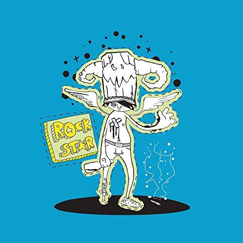 Apple iPhone 5c Case Skin Sticker aus Vinyl-Folie Aufkleber Rockstar Party Blau DesignSkins® glänzend