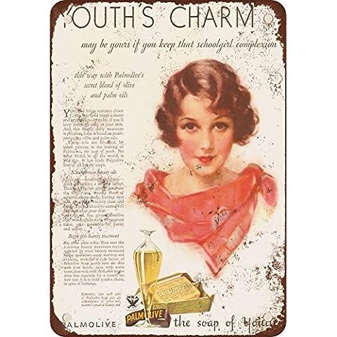 1933Palmolive Sapone stile vintage Riproduzione in metallo Tin Sign 30,5x 45,7cm