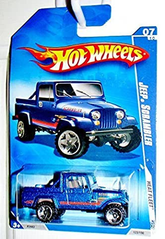 Hot Wheels 2009 Heat Fleet Blue Jeep Scrambler 1:64 Scale by Hot Wheels
