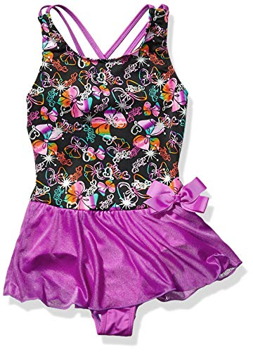 Jojo Siwa By Danskin Mädchen Big Rainbow Bows Dance Dress Funktionsunterwäsche, 91000 Bogen-Party-Print/Studio Purple, XS -