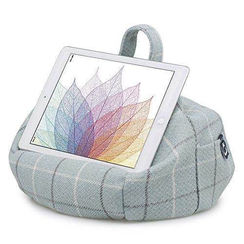 iBeani - Sostegno/Cuscino Sacca/Appoggio Supporto per iPad, Tablet e eReader, per Tutti i Dispositivi - Uova d'Anatra Quadri