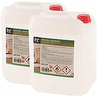 Höfer Chemie Kristall Brenngel Premium 9 x 10 L (90 Liter) für Brenngel Dekofeuer, Brenngel Lampe und Brenngel Kamin