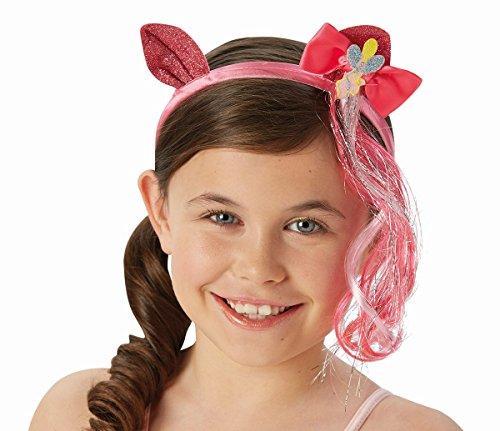 Rubie's My Little Pony Haarreif mit Haarsträhne und Ohren Pinkie ()