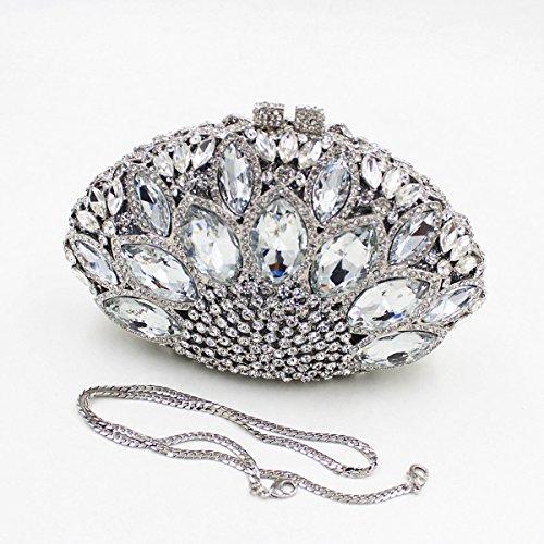 Chirrupy Chief, Poschette giorno donna Viola Purple small Silver