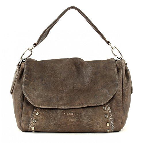 Liebeskind Berlin Saddle Bag Fujimi, Goat Leather Rhino Brown