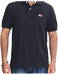 Tommy Hilfiger Mens Short Sleeve Slim Fit Polo T-Shirts Colour Black IMPORTED FROM USA