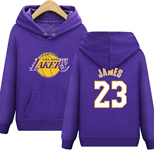 L.A Lakers James #23 Hoodie Jugend Männer Team logo Name & Number Fashion Basketball Sports Sweatshirt Pullover