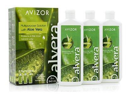 Alvera Aloe (Avizor Alvera Allzwecklösung mit Aloe Vera, 3 x 240 ml und 3 Dosen)
