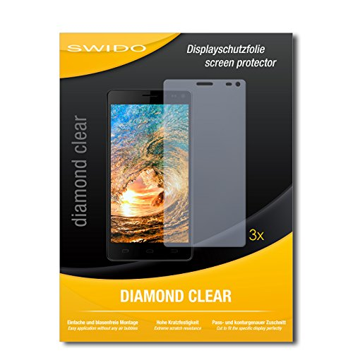 SWIDO 3 x Schutzfolie Siswoo R8 Monster Bildschirmschutz Folie DiamondClear unsichtbar