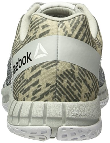 Reebok Zprint Run Hazard GP, Sneakers Donna Grigio (Grau/Weiß)