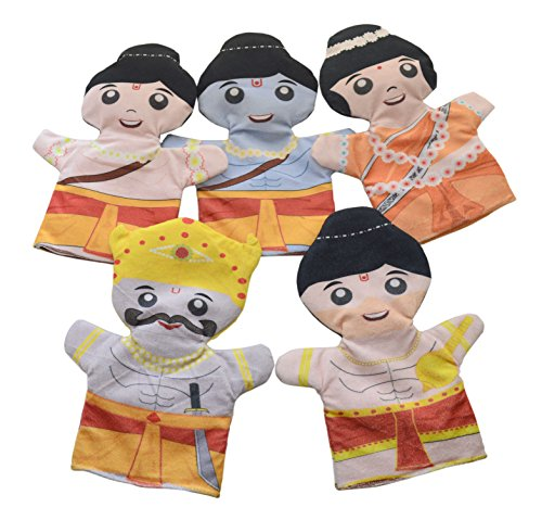Cuddly Toys Ramayana Storytelling Hand Puppets Set of 5