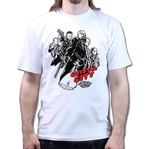 Heisenberg Breaking Crystal Sin Bad City T-shirt Weiß