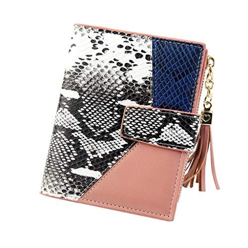 B-commerce Damen Frauen Leopardenmuster Schlange Geldbörse Cute Fashion Geldbörse Quaste Geldbörse Münze Karte Mini Clutch Karte Tasche Für Damen Party ()
