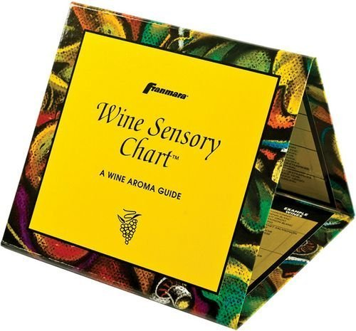 A Wine Aroma Wine Sensory ChartTM Folding Table Tent Pairing Guide by Franmara