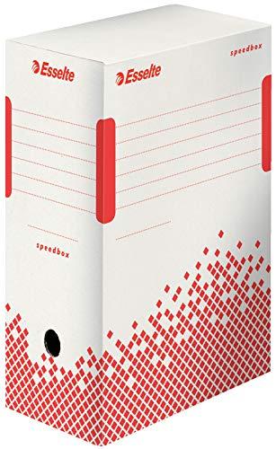 Esselte 623909 scatola archivio per documenti a lungo termine, a4, priva di acidi, dorso da 150 mm, bianco, 1 confezione da 25 pezzi