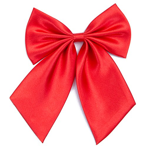 Damen Fliege Schleife Binder Schlips - 28 ~ 49 cm Länge Verstellbare Bowknot Krawatten (Heißes Rot)