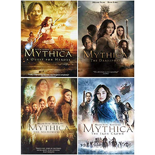 Mythica: Complete Movies 1-4 DVD Collection (A Quest for Heroes / The Darkspore / The Necromancer / The Iron Crown)