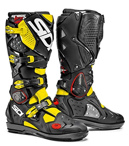 Sidi Crossfire 2 SRS MX Boots UK 9 Black Flou Yellow