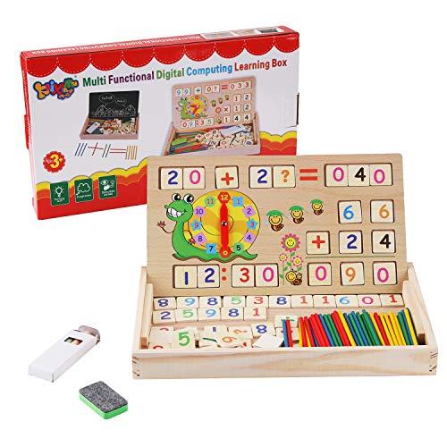 BBLIKE Montessori Mathe Spielzeug, Spielzeug Doodle aus Holz Zeichnung, Zeichnung Holzbrett Spielzeug Lernspielzeug f¨¹r Kinder 3 4 5 Jahre Alt (Nummer)