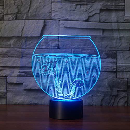 Neuheit Aquarium 3D Led Nachtlichter Acryl 3D Illusion Usb Rgb Nachtlampe Tisch Schreibtischlampe Wohnkultur Geburtstagsgeschenk