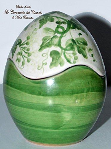 Uovo - Linea Edere - Porta cioccolatini - Porta gioielli - Handmade - Le Ceramiche del Castello - Idea Pasqua - Idea Bomboniera - %Made in Italy