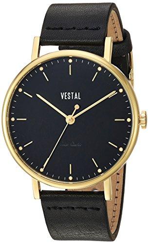 Preisvergleich Produktbild Vestal 'The Sophisticate' Quarz Edelstahl und Leder Kleid Uhr