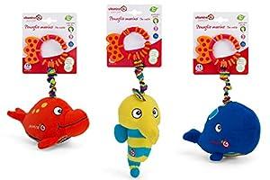 "Globo Toys Globo - 5090 ""Vitamina_G 3 Animales Dentizi Surtidos Anillo Rattles"