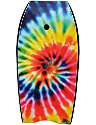 Osprey Unisex SU2014 Tie Dye Bodyboard with Leash, 41 inch XPE Board with Crescent Tail - Yellow