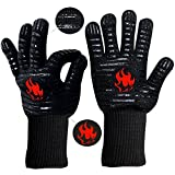 MobileGuard Barbecue gloves 500℃ Extreme Heat Resistantand high temperature resistance Gloves,Use in Cooking,Pizza Stone,Grilling,also has Anti-Skid.