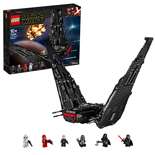 LEGO 75256 Star Wars Kylo Ren's Shuttle Starship Construction Set with 2 Spring Shooters, The Rise of Skywalker Collection, Multicolour Best Price and Cheapest