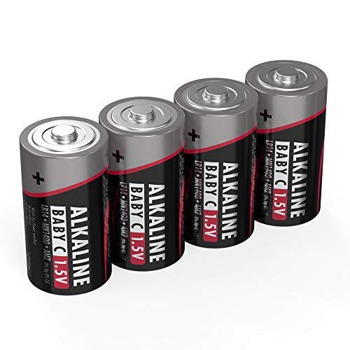 ANSMANN Batterien Baby C LR14 4 Stück 1,5V - Alkaline Batterie langlebig & auslaufsicher - Ideal für Spielzeug, LED Taschenlampe, Radio, Modellbau uvm