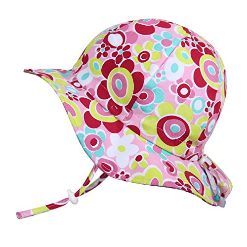 Atmungsaktiver Sonnenhut fürs Baby (Mädchen) 50 UPF, verstellbar, mit Kinnriemen, faltbar(Mittel: 6-30m, Schlapphut: Rosa Schatz) (Wie Man Ein Baby)