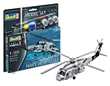 Revell 64955 - Modellbausatz Hubschrauber 64955 Set 1:100 - SH-60 Navy Helicopter im Maßstab 1:100, Level 3, Orginalgetreue Nachbildung mit vielen Details, Helikopter -