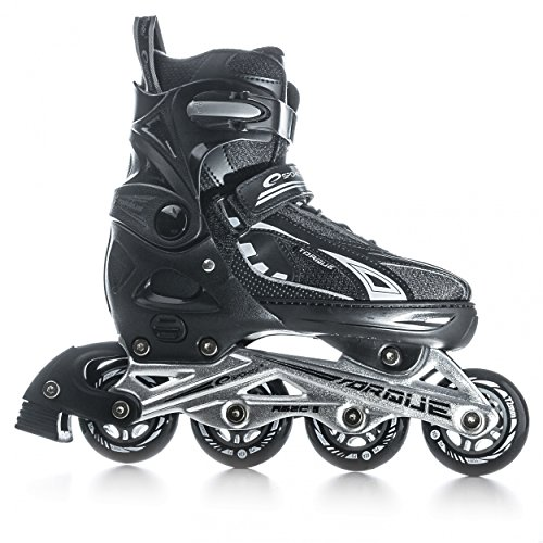 SPOKEY® TORQUE Inline Skates Größenverstellbar | Kinder | Damen | Inline Blades | ABEC5 Karbon | Größen 33-43