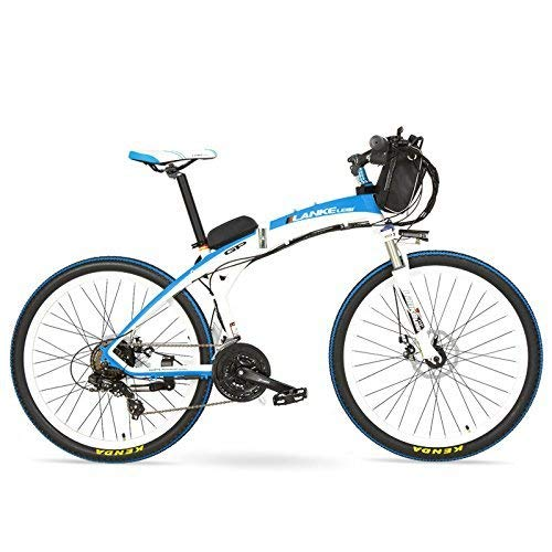AA-folding electric bicycle ZDDOZXC GP 26-Zoll-Mode-Pedal-Assistent elektrisches schnell klappbares Mountainbike, 48V 12Ah Batterie, 240W Motor, beide Scheibenbremsen, 30~40km / h, Pedelec.