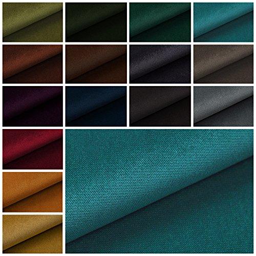 novely PASSAU | samtig weicher Chenille Möbelstoff in 26 Farben | Polsterstoff (13 Ocean Blau) - Blau Chenille Möbelstoff